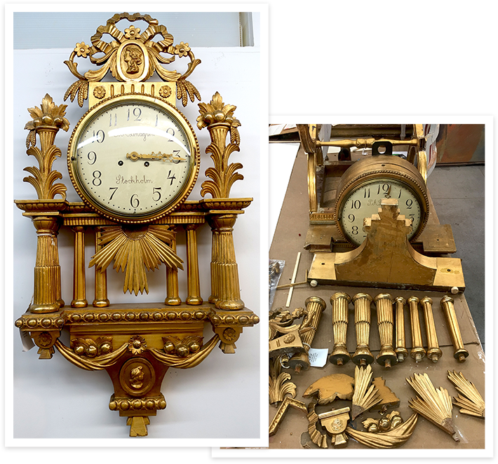 Before & After Restoring a Clock